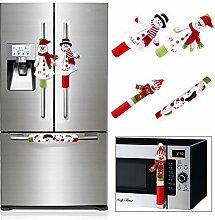 Aytai 4 x Weihnachts-Kühlschrankgriffabdeckungen