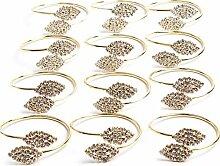 AYUE® 12PX Gold Serviettenringe für Hochzeit