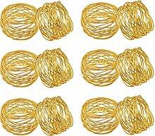 AYUE® Handgemachte Gold Serviettenringe Set Von