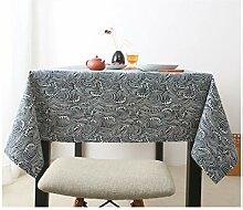 AYUE® Vintage Rechteck Baumwolle Leinen