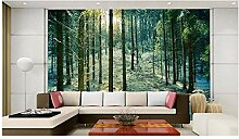 Ayzr 3D Fototapete Wald Schnee Tapeten Für