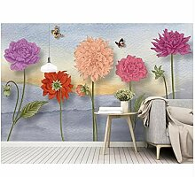 Ayzr Custom Tapete For Walls Cartoon Flower Photo