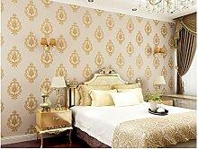 Ayzr Europäischen Luxus Wallpaper Schlafzimmer Tapete, Gelb