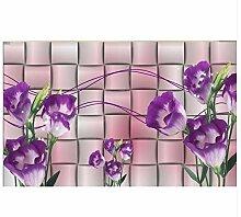 Ayzr Europäischen Stil Luxus Tapete 3D Blumen
