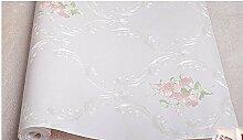 Ayzr Feine Druck Non Woven Tapeten Schlafzimmer Wohnzimmer Wallpaper Wallpaper, Rosa