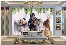 Ayzr Pferd Modern Tapete Malerei Anpassen