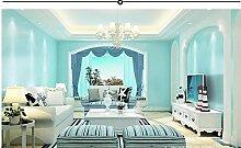 Ayzr Pvc-Tapete Wohnzimmer Tapete, Blau