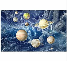 Ayzr  Space Planets Tapete For Walls 3 D Photo
