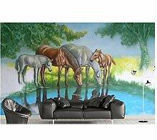 Ayzr Tapete 3D Stereoskopischen Relief Pferd 3D