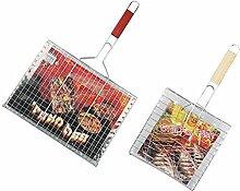 Azanaz Fisch-Grillkorb Fischbräter Gemüsekorb
