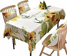 AZHF Sonnenblume-Tischdecke-Rechteck-kleine
