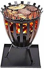 AZHLUF Outdoor-Metall-Feuerkorb, Terrasse Garten