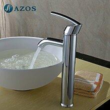 azos Badezimmer Waschbecken Wasserhahn Messing Chrom poliert Farbe Single Loch Deck Mount Hot und Cold Mixer mpdkz117