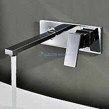 AZOS Bathroom Basin Tap Single Handle Chrome Polish Silver Centerset Waterfall Mixer Furniture