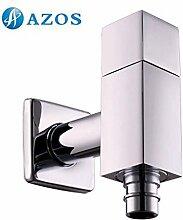 azos Waschmaschine Transportboxen möglich Single Kalten chrom Messing Wand Wasserhahn GARTEN Wasserhahn Waschbecken Wasserhahn pjxy015