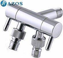 azos Waschmaschine Transportboxen möglich Single Kalten chrom Messing Wand Wasserhahn GARTEN Wasserhahn Waschbecken Wasserhahn pjxy029