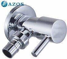 azos Waschmaschine Transportboxen möglich Single Kalten chrom Messing Wand Wasserhahn GARTEN Wasserhahn Waschbecken Wasserhahn pjxy017