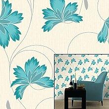 Azure Blau-m0565-Flourish-Crown Tapete