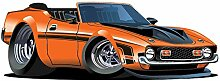 azutura Orange Dodge Wandtattoo Klassisches Auto