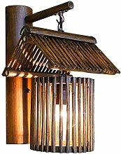 AZWE Antike Bambus Wandlampe Kreative Dekorative