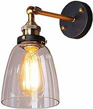 AZWE Glaswandlampe Vintage Glaslampe Hängeleuchte