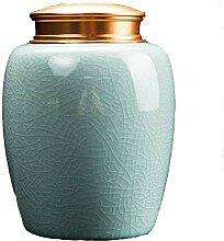 AZWE Keramik Kleiner Tea Can, die handgemachte