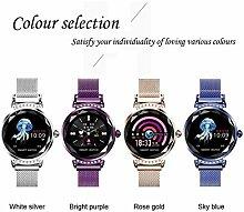 AZWE Mode Fitness Tracker Uhr Edelstahl Armbänder