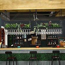 AZWE Weinregal Lvwine Bar Hanging Wine Glasses Rot