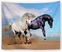 AZZXZONa Desert Horse World Tapisserie, 200X150Cm