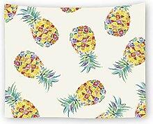 AZZXZONa Farbe Ananas Wandteppich, Hippie Esstisch