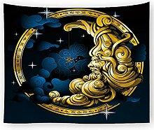 AZZXZONa Moon Tapisserie, Schlafzimmer Schlafsaal