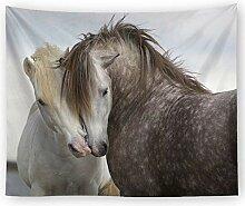 AZZXZONa Paar Pferd Wandteppich, Schlafzimmer