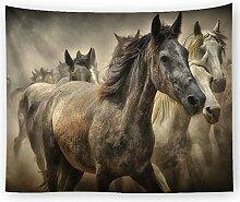 AZZXZONa Pferdetapisserie, Strandtuch 200X150Cm