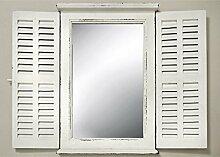B&B Genialer Spiegel in Antik-Weiß mit