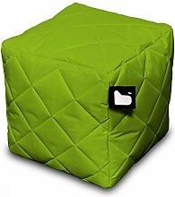 B-bag Sitzwürfel Gesteppt Indoor u. Outdoor Grün 95006