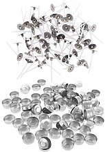 B Baosity 100x Aluminium Teelichthüllen leer