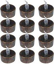B Blesiya 12 Stück Elektrische LED Teelichter