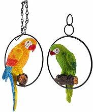 B Blesiya 2 STK. Papagei Vogel Figur auf Ständer