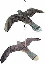 B Blesiya 2 Stück Falke Vogelschreck Lockvogel