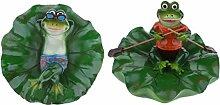 B Blesiya 2 Stück Frosch Schwimmfigur für