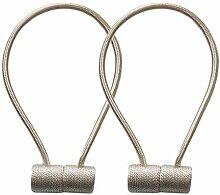 B Blesiya 2 x Magnetischer Vorhang Raffhalter