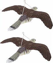 B Blesiya 2pcs Fliegender Rabenfigur Taubenschreck