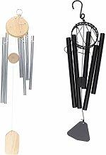 B Blesiya 2pcs Metall Windspiel Glockenspiel