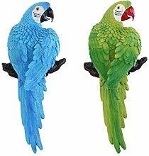 B Blesiya 2pcs Papagei Dekofigur Federnvogel