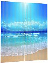 B Blesiya 3D Meer Blickdicht Kräuselband