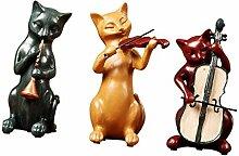 B Blesiya 3tlg Japanische Katze Statue mit