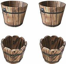 B Blesiya 4 Stück Holz Blumenkasten Pflanzkasten