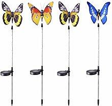 B Blesiya 4pcs Solarleuchten Schmetterlings