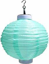 B Blesiya Lampion Form Solarleuchte Solar