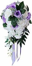 B Blesiya Romantische Brautstrauß Hochzeit